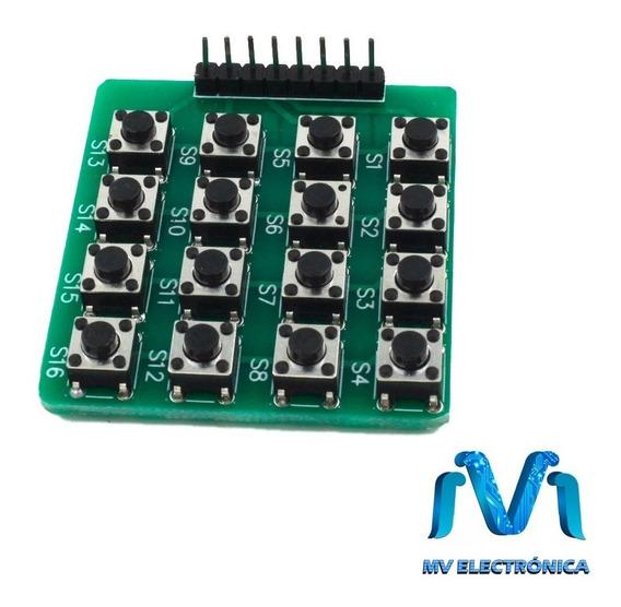 Teclado Matricial De Botones 4x4 Mcu Para Arduino Pic Mv