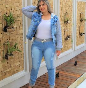 Jaqueta Jeans Plus Size G1 G2 G3 Comprida Roupas Femininas