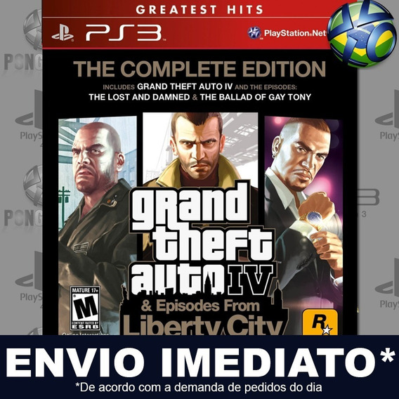 Gta Iv Grand Theft Auto 4 The Complete Edition Ps3 Digital Psn Jogo Em Promoção