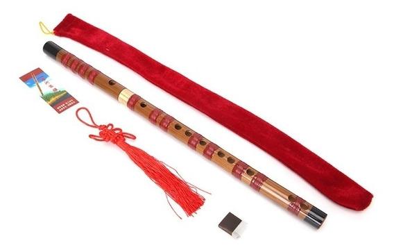 Flauta Chinesa Dizi Transversal Bambu 2 Partes C Dó + Frete