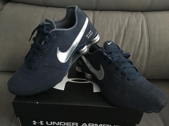 Raridade Tenis Nike Shox Azul Marinho Nobuckcomprado Nos Eua
