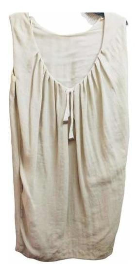 Vestido Mujer Mango Hueso Corto Y Hermoso Escote Espalda