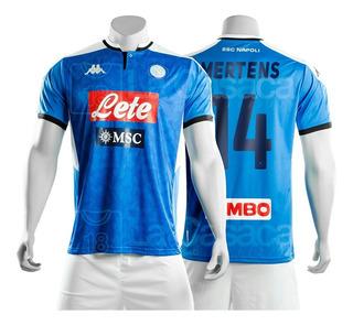 Camiseta Origina Lnapoli Italia 19-20 Insigne Mertens Kappa