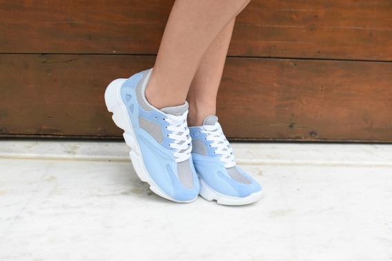Tênis Sneaker Azul Suave Ref:c529906