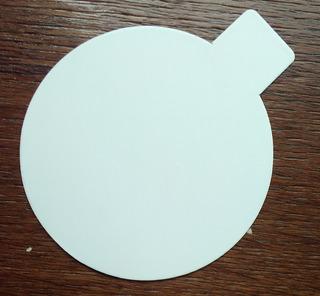 Disco Plastificado Ppm Blanco Mate D. 8 Cm Con Pestaña (x 100 U.) - Bauletto