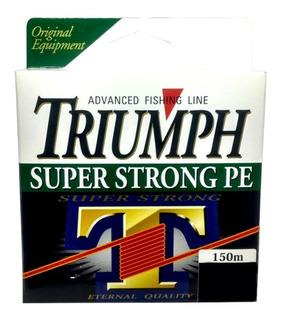 Linha Multifilamento Triumph Strong 50lb 0,35mm- Cinza 150mt