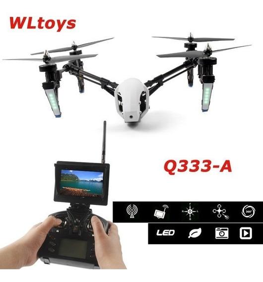 Drone Speed Wltoys Q333-a C/ Tela Fpv 5.8 Ghz 4ch Rc Inspire