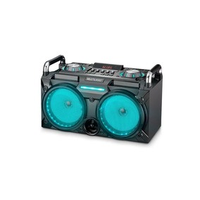 Caixa De Som Dj Station Bluetooth/sd/usb Com Led Multilaser