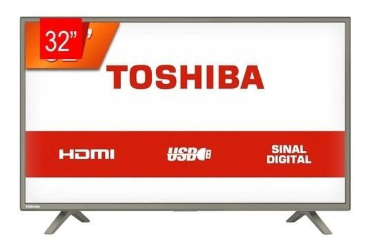 Tv Led Hd Toshiba 32l1800, Sinal Digital, 3 Entradas Hdmi, 1