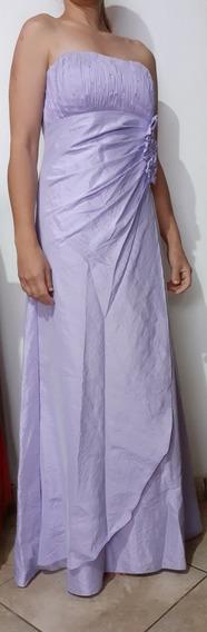 Vestido Lilás Tafetá La Sposa