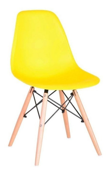 Cadeira Charles Eames Wood Design Cores Nf Dsw