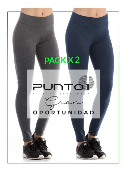 Pack X 2 Calza Legging Supplex Mujer Punto1oficial