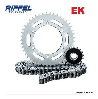 Kit Relação Transmissão Gsx 750f 98-09 Riffel+ Ek C/retentor