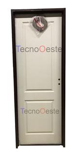 Puerta Placa Oblak 2t Rectos Blanca 80x200 Pared/durlock
