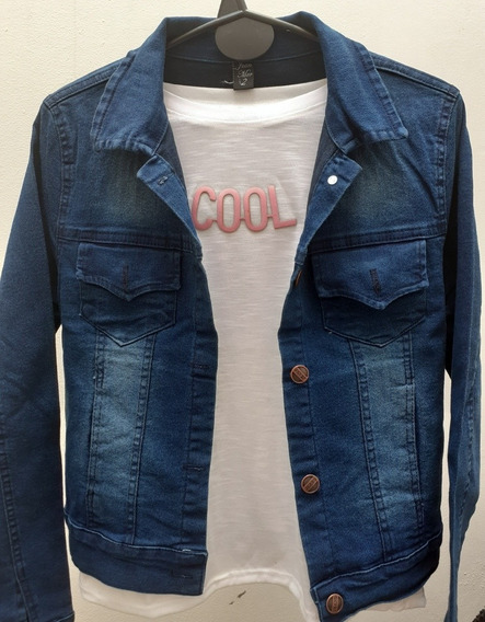 Camperas Jeans Elastizadas Mujer