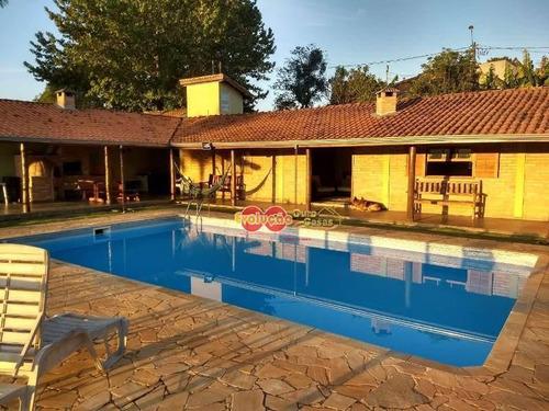 Chácara Com 2 Dormitórios À Venda, 1200 M² Por R$ 580.000,00 - Summertime Barreiro - Itatiba/sp - Ch0696