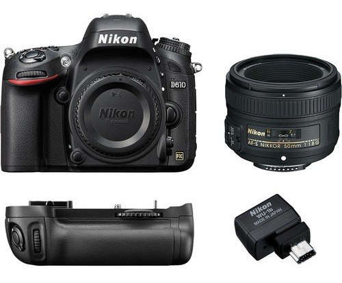 Super Kit Nikon D610 + 50mm 1.8g + Grip Ori + Adap. Wifi Nfe