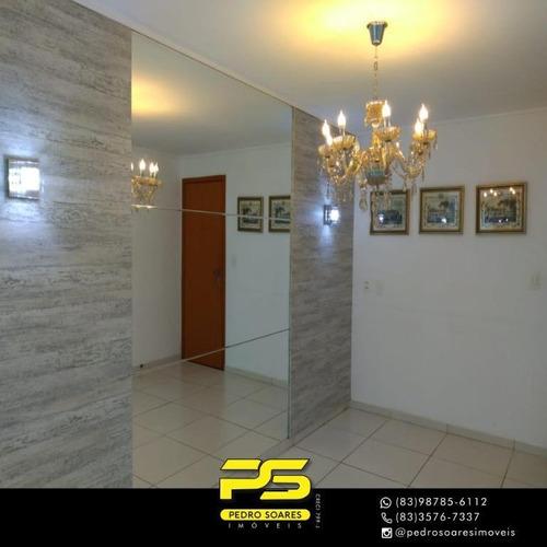 (oportunidade)  Apartamento Com 3 Dormitórios À Venda, 97 M² Por R$ 420.000 - Bairro Dos Estados - João Pessoa/pb - Ap4197