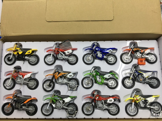Kit 12 Motos Maisto Cross/trilha Escala 1/18