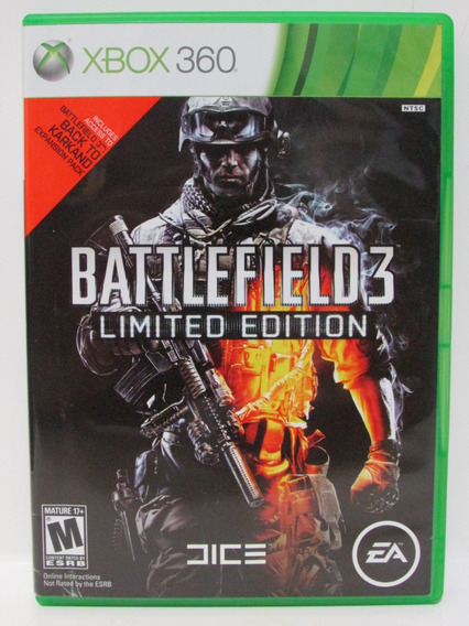 Battlefield 3 Limited Edition Xbox 360 Original Mídia Física