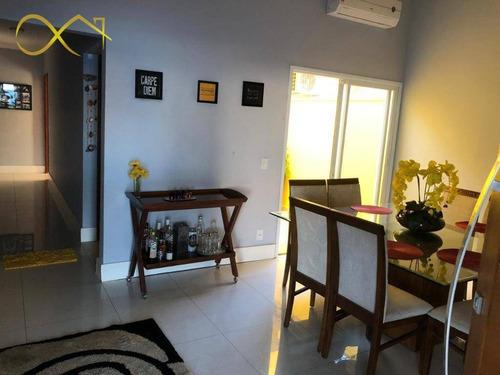 Casa Com 3 Dormitórios À Venda, 140 M² Por R$ 670.000,00 - Condomínio Campos Do Conde Ii - Paulínia/sp - Ca2002