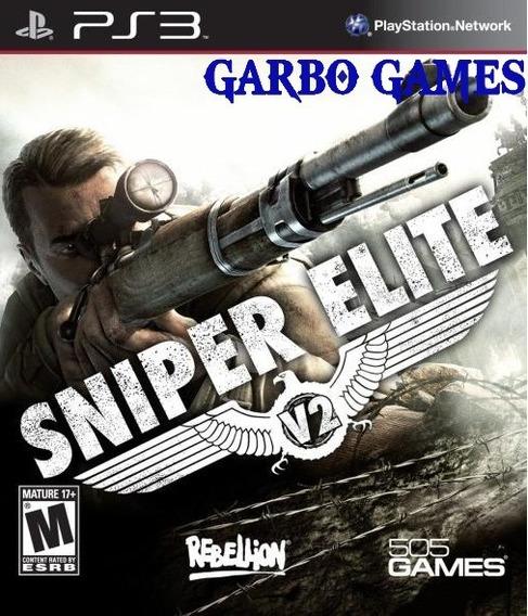Jogo De Ps3 Sniper Elite V2 Em Mídia Digital