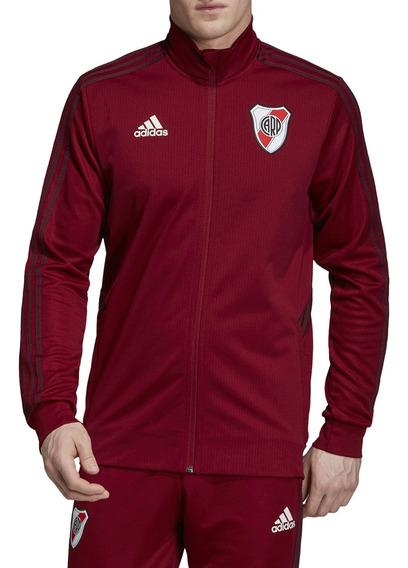 Campera Rompeviento adidas Futbol River Plate Hombre Bd/bd