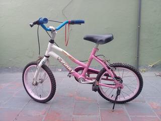 Bicicleta Rodado 14 Marca Pinky