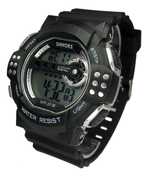 Relógio Masculino Esportivo Digital Prova D´água Preto Novo