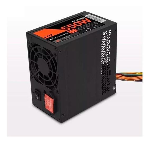Fuente Pc Atx Lnz 550w +q 500w Cooler Negra 28a- 2da Sentey