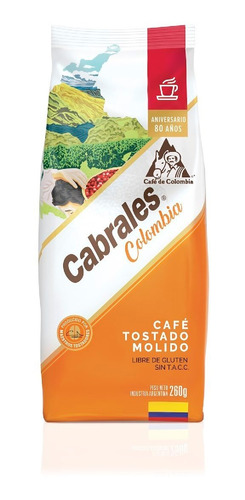 Imagen 1 de 7 de Cafe Molido Cabrales Colombia 260gr Tostado
