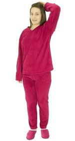 Pijama Feminino Pluch Soft Saida De Banho Banheira Rosa