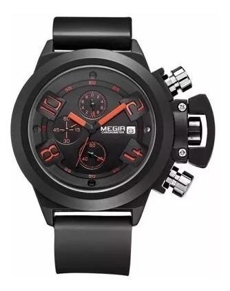 Relógio Militar Masculino Megir À Prova D