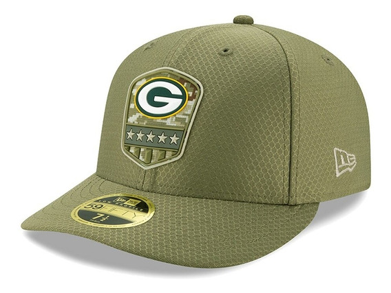 Gorra New Era Green Bay Packers 59fifty Salute To Service Lo
