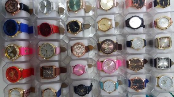 Relógios Fem/masc Kit Com 40 + Caixas Atacado Revenda Oferta