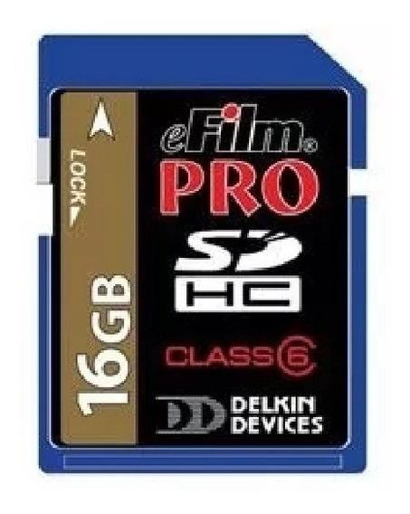 Cartão Memória Delkin Sdhc Pro 16gb Classe 6 Alta Velocidade