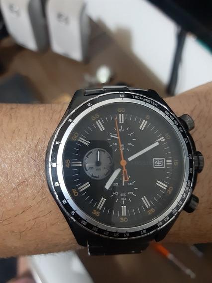 Relogio Fossil Original Cronografo Data Aço Preto Show