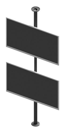 Suporte P/ 2 Tvs 10 A 55 Teto Ao Chão - Preto