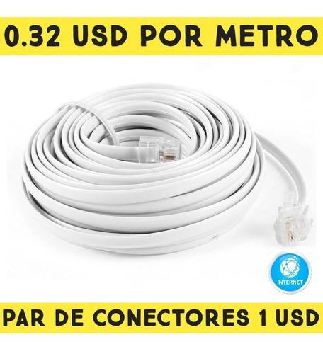 Cable Telefonico Por Metro 4 Hilos