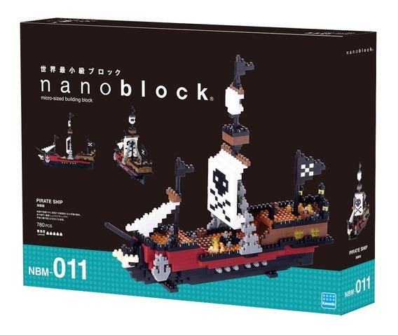 Nanoblock Barco Piratas Del Caribe Juguete Rompecabezas Rega