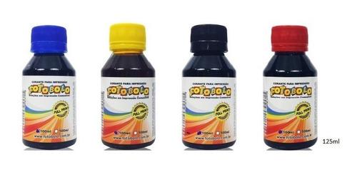 Tinta Vegetal Comestible Kit 4 Colores X125ml C/u