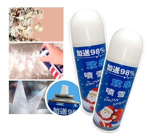 Imagen 1 de 8 de Espuma Nieve Artificial Spray X2 Decoración Navidad 238w