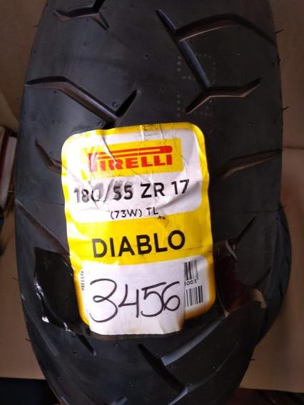 Pneu Tras 180/55-17 Hornet/xj6/z750/gsx1000 Diablo 73w Pirel