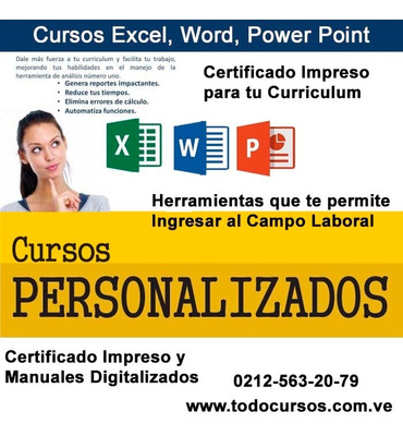 Curso Excel, Word, Joomla, Wordpress, Paginas Web Y Mas