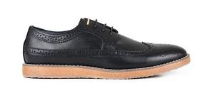 Zapato Wingtip Casuales Negros - Tony