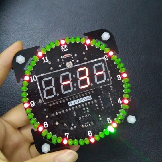 Kit Montagem Relógio Digital Leds Rotativos Smd Frete Grátis