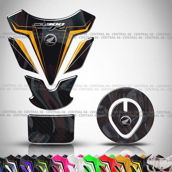 Kit Protetor De Tanque + Bocal Honda Cb 300r 2013 Dourado 2