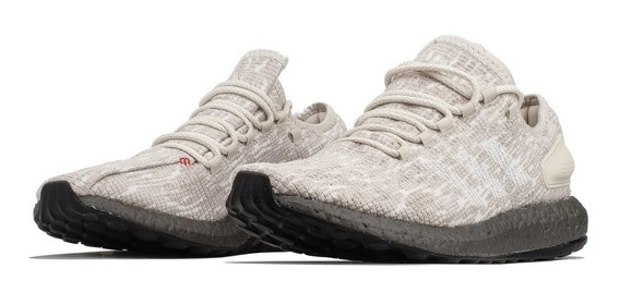 Tenis Hombre adidas Running Pure Boost Clear Brown White Scarlet Cm8306