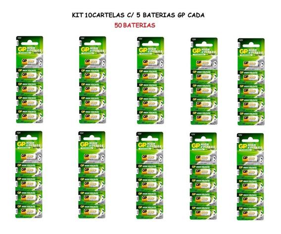 10 Cartelas: 50 Baterias Gp Ultra High Voltage Alcalina 23a