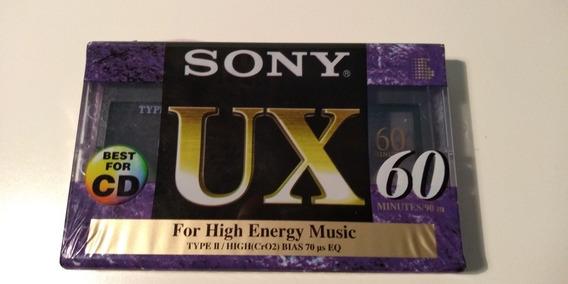 Fita Cassete Virgem Sony Ux Type 2 Lacrada